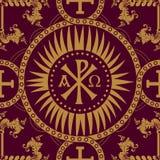 Classic orthodox seamless pattern Stock Photo