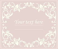 Classic oval frame with floral ornament Stock Images