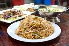 Classic Pad Thai Noodles Stock Image