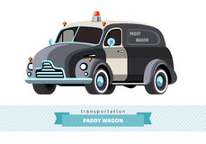 Classic paddy wagon truck front side view Royalty Free Stock Photo