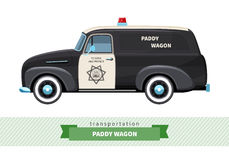 Classic paddy wagon truck side view Royalty Free Stock Photography