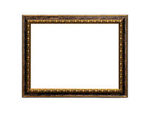 Classic painting canvas frame isolated. On white background royalty free stock images