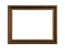 Classic painting canvas frame isolated. On white background stock photo