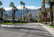 Classic Palm Springs neighborhood Royalty Free Stock Images