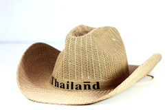 Classic panama hat  on white. Stock Images