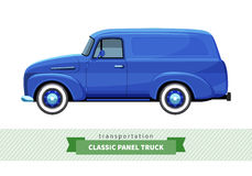 Classic panel truck side view Royalty Free Stock Image
