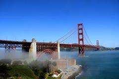 Classic panoramic view of famous Golden Gate Bridge in summer, San Francisco, California, USA Stock Photo