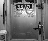 Classic Paris cafe entrance Royalty Free Stock Photography