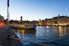 Classic passengership Gustafsberg VII summernight Stock Photography