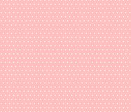 Classic pattern. White dots on pink background. Classic pattern, contrasting colors, classic style, geometric pattern, graphic background, repeated circles stock illustration