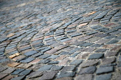 Classic pavement. Close-up of a classic pavement with reduced depth of field Royalty Free Stock Photography