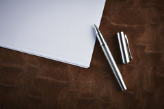 Classic Pen. On the table royalty free stock photos