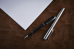 Classic Pen. On the table stock images