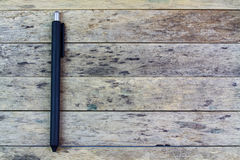 Classic pen. On wood blackground stock photography
