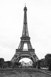 Classic photo of Paris` Eiffel tower in black and white Stock Image