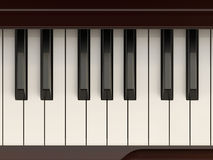 Classic piano keyboard close-up shot Stock Photography