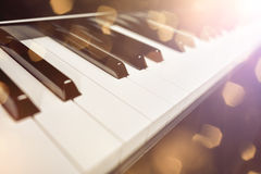 Classic piano keys background Royalty Free Stock Images
