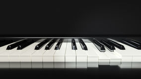 Classic piano keys background. 3d rendering of a classic piano keys background Stock Image