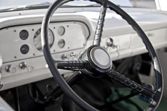 Classic Pickup Truck Interior Stock Photo