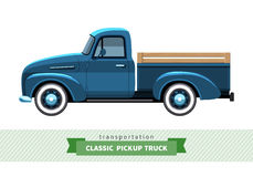 Classic pickup truck side view Stock Photos