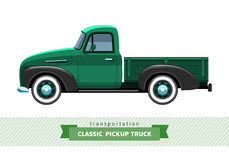 Classic pickup truck side view Stock Photography
