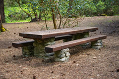 Classic picnic table Stock Image
