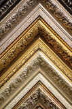 Classic picture frames patterns close-up Royalty Free Stock Photography