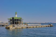 classic pier which rises baggily Royalty Free Stock Image