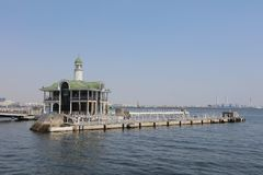 classic pier which rises baggily Royalty Free Stock Photography