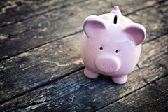 Classic piggy bank Stock Images
