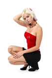 Classic pin-up girl posing Royalty Free Stock Image