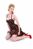 Classic Pinup Girl Stock Photo
