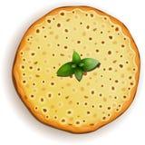 Classic pizza Margarita. Vector illustration of Classic pizza Margarita isolated vector illustration