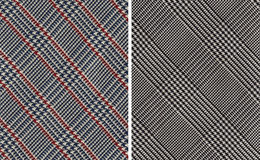 Classic Plaids Textile Swatches. Closeup on Two Classic Plaids Cotton Textile Swatches royalty free stock photo