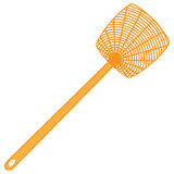 Classic plastic fly swatter. A tool for the destruction of insects at home - a fly swatter stock illustration