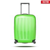 Classic plastic luggage suitcase for air or road Stock Photos