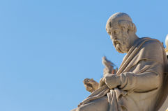 Classic Plato statue. Classic statues Plato and Athena Royalty Free Stock Photography
