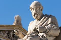 Classic Plato statue. Classic statues Plato sitting under blue sky Royalty Free Stock Photo