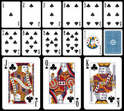Classic Playing Cards - Clubs stock illustration