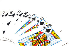 Classic Playing Cards - Spades Stock Images