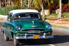 Classic Plymouth (Chrysler). Havana, Cuba. Stock Photography