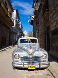 Classic Plymouth parked on Old Havana Stock Photo