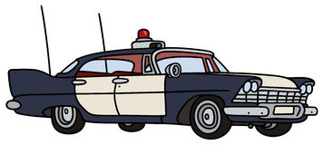 Classic police car Royalty Free Stock Image