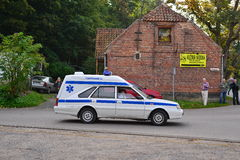 Classic Polish Ambulance Car Royalty Free Stock Images