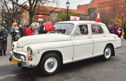 Classic Polish car FSO Warszawa 223 during a parade Stock Images