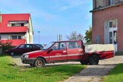 Classic Polish car parked Royalty Free Stock Image