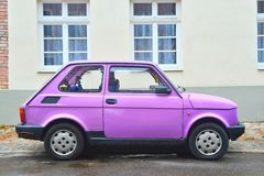 Classic Polish car Polski Fiat 126p parked Royalty Free Stock Images