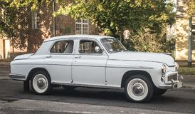 Classic Polish car Warszawa. 223 driving after  car show in Gdansk Oliwa, northern Poland Stock Images