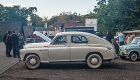 Classic Polish car Warszawa. M-20 parked during car show in Gdansk Oliwa, northern Poland Stock Photos