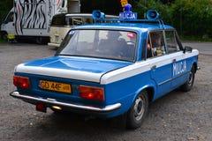 Classic Polish Police Car Royalty Free Stock Photography